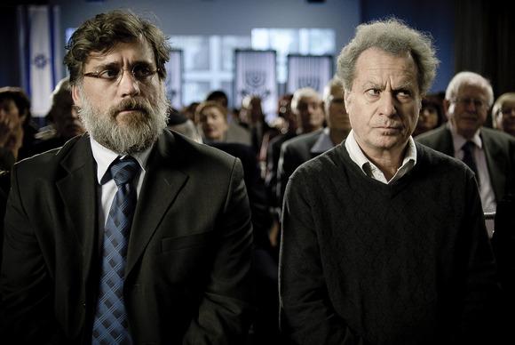 Lior Ashkenazi y Shlomo Bar-Aba en una escena del film israeli Footnote