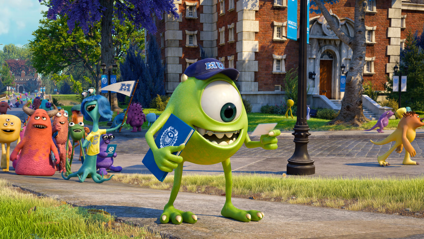 Una escena del film de animación MONSTERS UNIVERSITY
