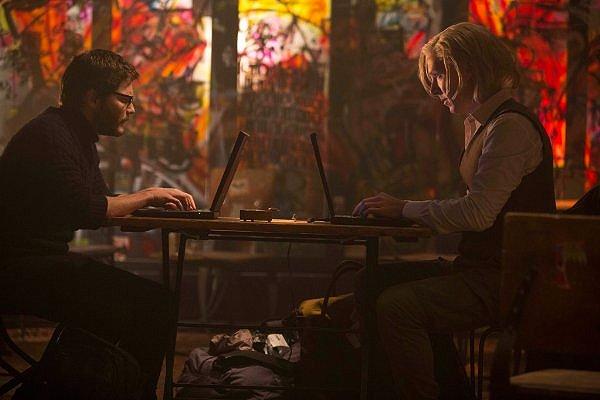 Daniel Brühl y Benedict Cumberbatch en THE FIFTH ESTATE