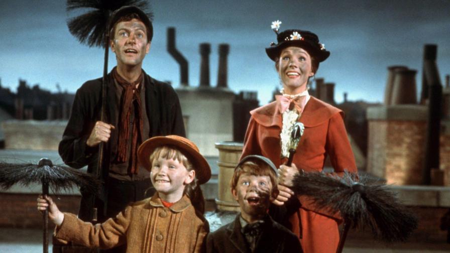 Dick Van Dyke, Julie Andrews, Karen Dotrice y Matthew Garber
