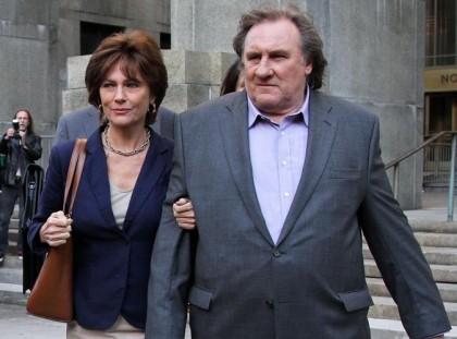 Jacqueline Bisset y Gérard Depardieu