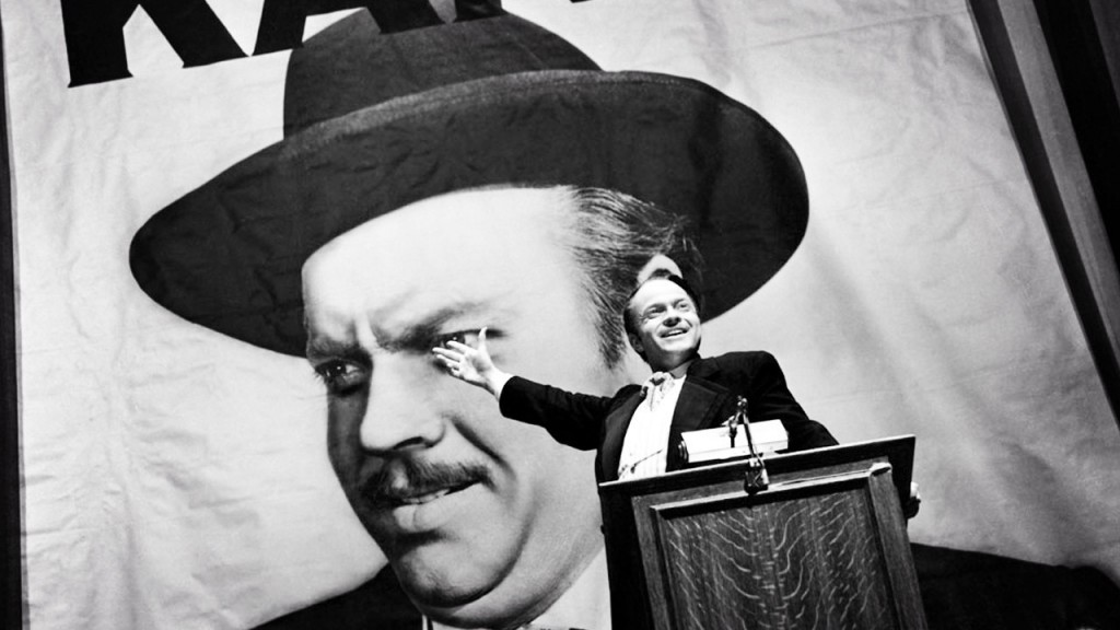 Orson Wells en CITIZEN KANE