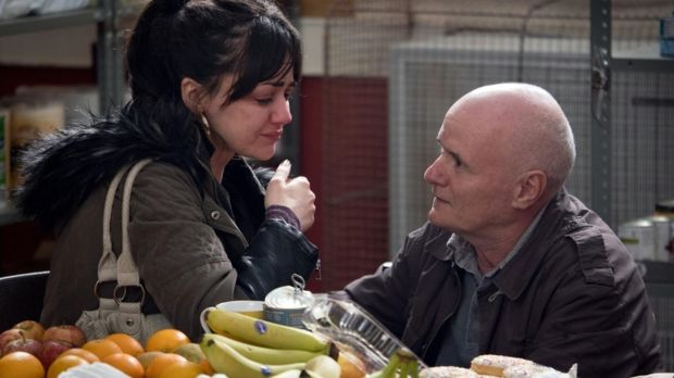Hayley Squires and Dave Johns en I, DANIEL BLAKE